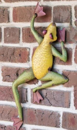 Wandhänger Frosch Gecko - Wanddeko Salamander aus Metall