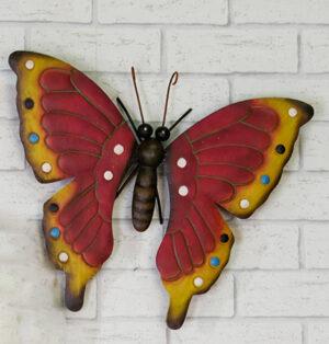 Wandhänger Schmetterling Wanddeko, Butterfly Wandbild aus Metall