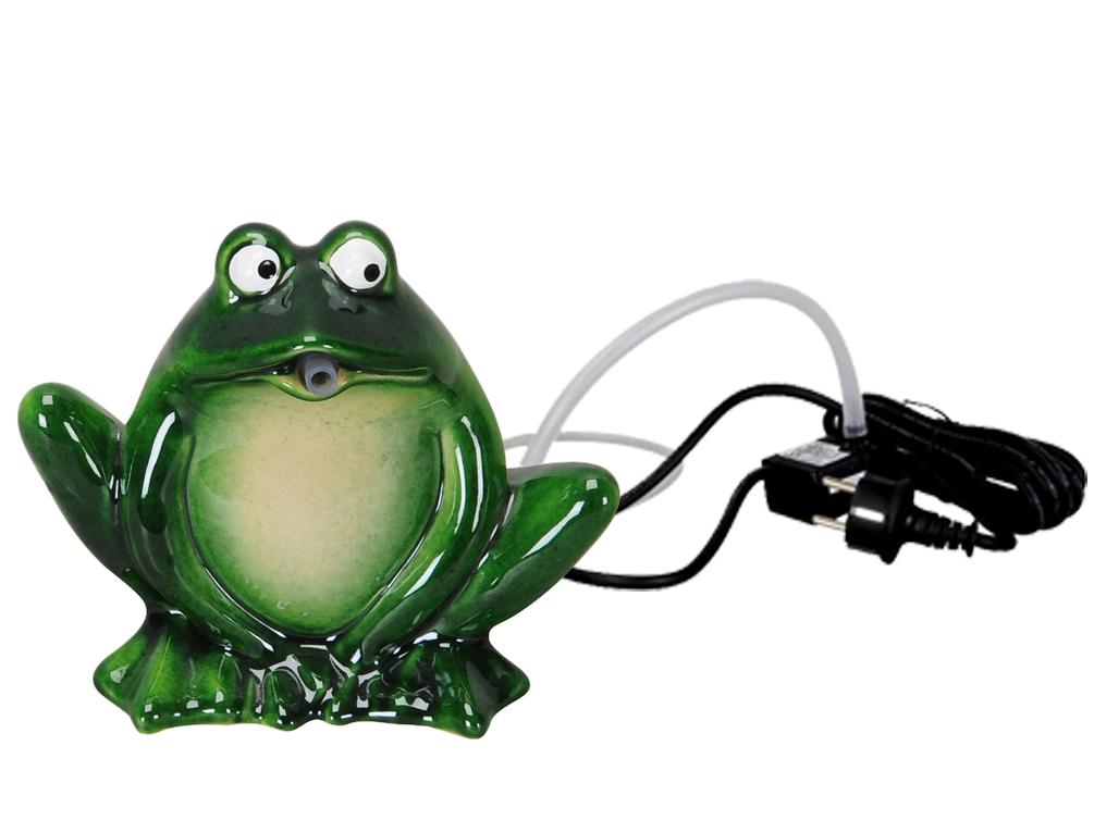 wasserspeier frosch gr n keramik auch komplett mit pumpe
