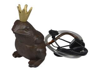 Wasserspeier Froschkönig – Teichfigur Frosch Gusseisen + Schlauch 441691-000-707