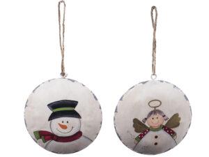 Weihnachtsbaumschmuck Engel oder Schneemann runder Angänger