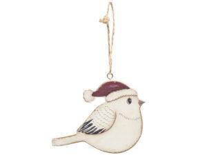 Weihnachtsbaumschmuck Vogel Holz Anhänger Vintage Look