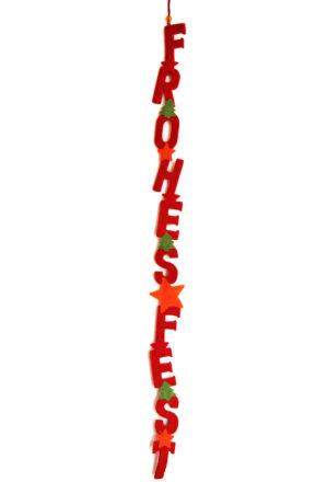 Weihnachtsgirlande Frohes Fest - Filzbuchstaben