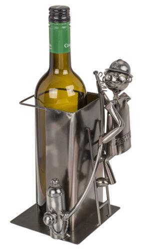 Weinflaschenhalter Feuerwehr Skulptur Feuerwehrmann im Einsatz