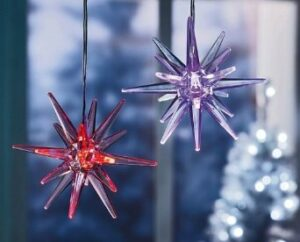LED Stern Acyrl Weihnachtsstern Fensterstern Leuchtstern