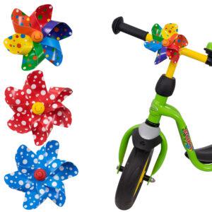 Windrädchen mit wieder lösbares Clipband – Windrad für Kinderwagen, Fahrräder, Fahrradstangen