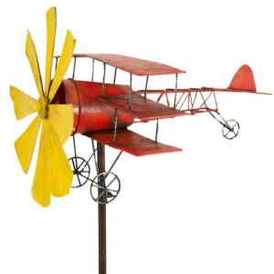 Windspiel Dreidecker Metall Flugzeug Roter Baron – Red Baron – Triplane Fokker Dr.I XE517461_5