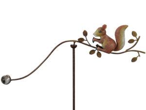 Windspiel Eichhörnchen Balancer - Gartenpendel Eichhörnchen mit Glaskugel