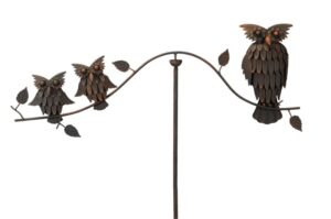 Windspiel Eulen Balancer - Eulenwippe - Gartenpendel Eulen - Eulenfamilie Gartendeko