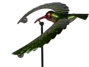 Windspiel Kolibri Balancer - kleine Vogelwippe - Gartenpendel.