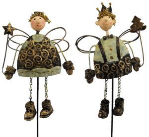 Engel Stecker Winter Figur Weihnachtsstecker König Set