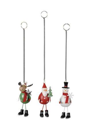 Wipp Weihnachtsmann - Elch Jumper - Schneemann mit Sprungfeder - zum Aufhängen