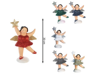 XXL Engel Betty stehend - mollige Engel Figur - 30 cm