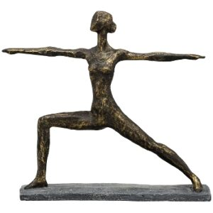 Yoga Skultur Warrior II Pose - Yoga Krieger 2 Skulptur Hilda