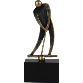 Golfer Pokal Skulptur Eishockey - Minigolf, Golf Metall-Resin Sportler Figur auf Mamorsockel - Metall-Resin Figur
