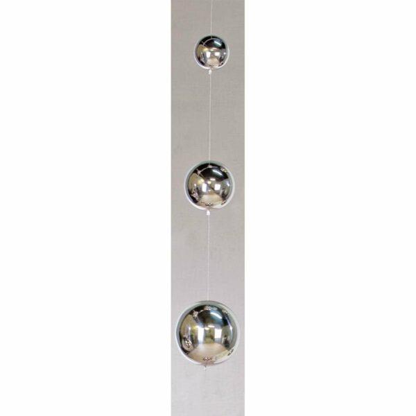 Girlande BALLS, Edelstahl Kugeln - Fensterdeko - Hängedeko 95 cm