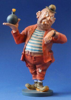 "Verbrecher Skulptur Albert Dubout ""Sparada, l'heur du crime"" Comic Karikatur"