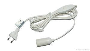 E14-Fassung, Kabel mit Schalter - Zubehör für Papier Stern - Leuchtstern - Deckenlampen - Leuchthäuser