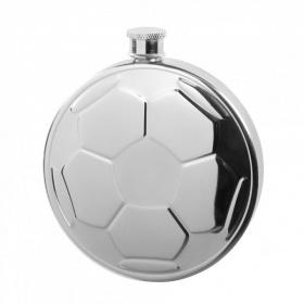 """Edelstahl Flachmann Fußball 180 ml """"Goal de Luxe"""""""