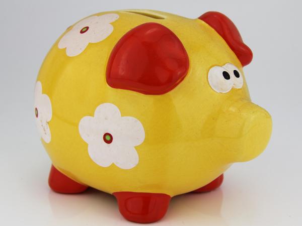Sparschwein mit blumen einfache und g nstige spardose im for Gunstige gartendekoration