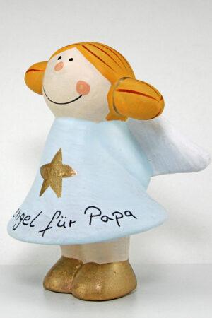 Schutzengel für Papa - verschiedene Farben - Mila kl. Ton Engel Sternchen