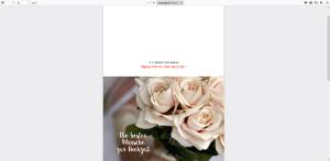 Doppelkarte Die besten Glückwünsche zur Hochzeit - Karte weiße Rosen