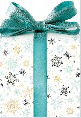 Geschenkkarton Klappkarte für Gutscheinkarte - Gutschein in Geschenkform - Weihnachtsbaumanhänger