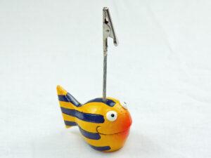 Looky Kartenhalter Kugelfisch aus Polyresin - handbemalt karlookygelb