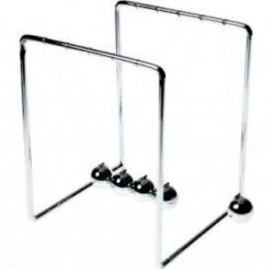 Tick Tock Kugelstoßpendel Newtons Wiege - Cradle Pendel Balance - Stresskiller 15 cm