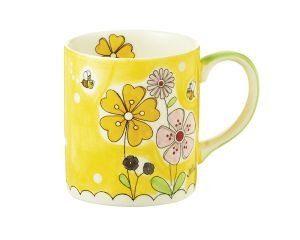 Mila Landblume Becher - 280 ml - Tasse - Henkelbecher - Keramik 80077