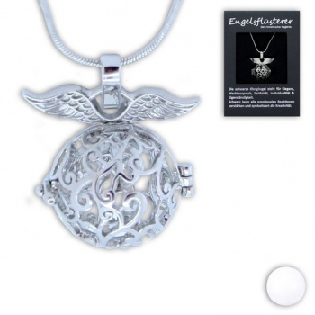 Kette Engelsrufer mit Klangkugel - Engelsflüsterer mit Flügel - Schutzengel Kette in Geschenkverapackung