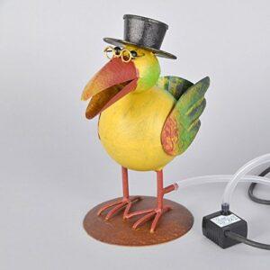 Vogel Wasserspeier Rabe mit Hut - Krähe Lothar 30 cm - Eisenblech