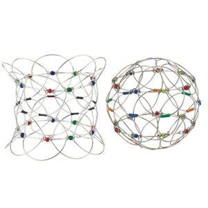 Mandala Spiel Ball 12 cm Magischer Kreis Drahtgeflecht Geschicklickeitsspiel - Tibetisches Fingerspiel - Meditationshilfe - Lotus Flower Armband