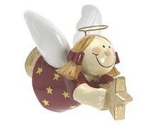Pappmaché Sterntaler - fliegender Engel mit einem Stern in der Hand