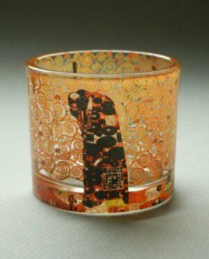 Die Erfüllung - Klimt Teelichthalter in Geschenkbox - Parastone Tea Light Museums Collection