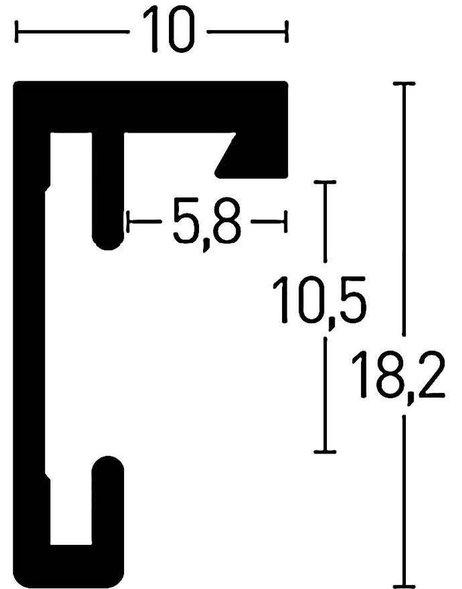 Nielsen Design Aluminium-Bilderrahmen C2 40x50 cm Struktur Matt
