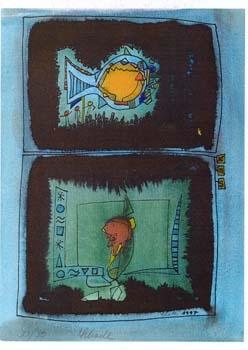 """Nr. 10 """"... blau"""" - DIN A4 Kunstdruck - limitierte Auflage - 50 Stück"""