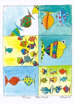 """Nr. 35 """"Fish-Mix"""" - DIN A4 Kunstdruck - limitierte Auflage"""