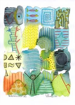 "Nr. 44 ""Kaleidoskop X"" - DIN A4 Kunstdruck - limitierte Auflage"