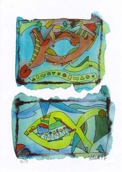 """Nr. 7 """"Janus"""" - DIN A4 Kunstdruck - limitierte Auflage - 50 Stück"""