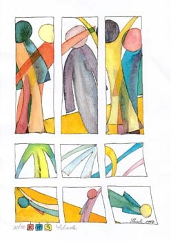 """Nr. 9 """"Bildsprache I"""" - DIN A4 Kunstdruck - limitierte Auflage - 50 Stück"""