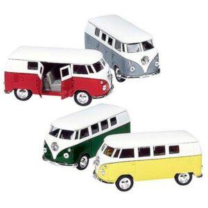 Welly Modellauto Volkswagen T1 Bus (1963), Spritzguss 1:37, 11,5cm mit Rückzugmotor
