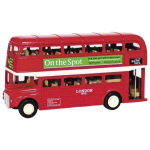 Welly Modellauto London Bus aus Spritzguss, L= 12cm