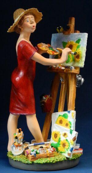 Berufsskulptur Kunstmalerin - Profisti Figur - Parastone Skulptur Künstlerin