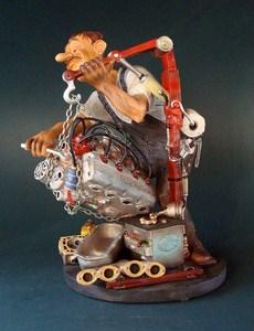 kfz mechaniker profisti figur parastone skulptur kfz mechatroniker auto schlosser traumflug. Black Bedroom Furniture Sets. Home Design Ideas