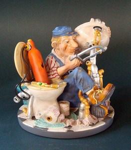 Berufsskulptur Installateur Profisti Figur - Parastone Skulptur Klempner