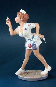 Parastone Skulptur Krankenschwester - Profisti Figur Arzthelferin - Nurse - Infirmerie - Verpfleegste