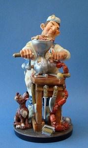 Comic Art Skulptur Metzger Profisti Figur Schlachter - Fleischer Parastone