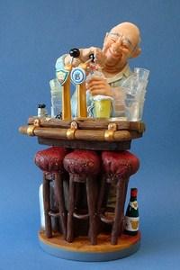 Skulptur Barkeeper Profisti Figur Barmann - Parastone Comic Art