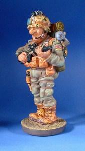 Skulptur Soldat Profisti Figur - Parastone Soldier Comic Art